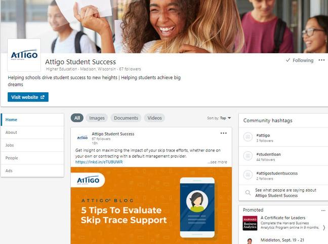 LinkedIn Attigo Page